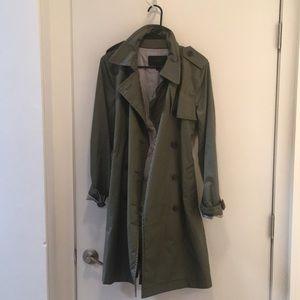 Olive Green Jcrew Trench Coat